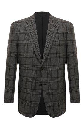 Мужской кашемировый пиджак BRIONI серого цвета, арт. RGH00Q/08315/PARLAMENT0 | Фото 1