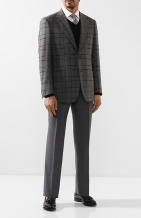 Мужской кашемировый пиджак BRIONI серого цвета, арт. RGH00Q/08315/PARLAMENT0 | Фото 2