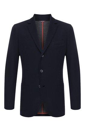 Мужской шерстяной пиджак LORO PIANA темно-синего цвета, арт. FAI7802   Фото 1