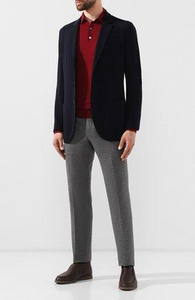 Мужской шерстяной пиджак LORO PIANA темно-синего цвета, арт. FAI7802   Фото 2