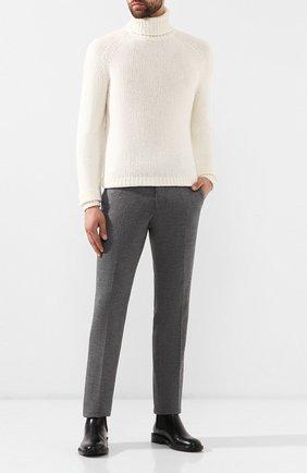Мужской свитер из смеси шерсти и кашемира RALPH LAUREN белого цвета, арт. 790758186 | Фото 2