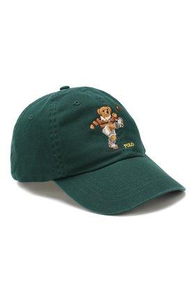 Мужской хлопковая бейсболка POLO RALPH LAUREN зеленого цвета, арт. 710751109 | Фото 1