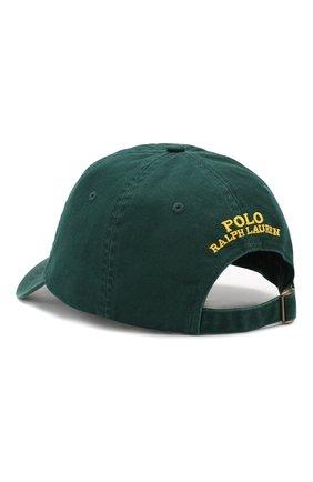 Мужской хлопковая бейсболка POLO RALPH LAUREN зеленого цвета, арт. 710751109 | Фото 2