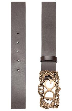Мужской кожаный ремень DOLCE & GABBANA коричневого цвета, арт. BC4300/AC493 | Фото 2