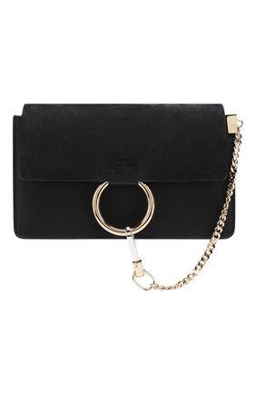 Женская сумка faye small CHLOÉ черного цвета, арт. CHC15US127H20   Фото 1