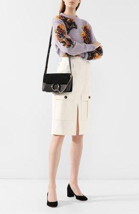 Женская сумка faye small CHLOÉ черного цвета, арт. CHC15US127H20   Фото 2