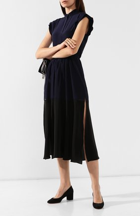 Женская замшевые туфли SANTONI черного цвета, арт. WDTC57817SH2GMGDN01 | Фото 2