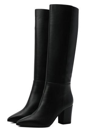 Женские кожаные сапоги SERGIO ROSSI черного цвета, арт. A85411-MNAN07 | Фото 1