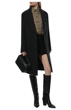 Женские кожаные сапоги SERGIO ROSSI черного цвета, арт. A85411-MNAN07 | Фото 2