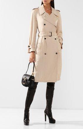 Женские кожаные ботфорты CASADEI черного цвета, арт. 1T671L1201T00539000 | Фото 2