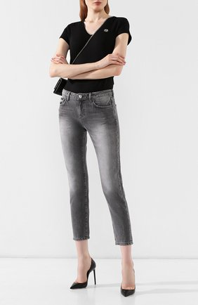 Женские джинсы PHILIPP PLEIN серого цвета, арт. WDT1117 | Фото 2