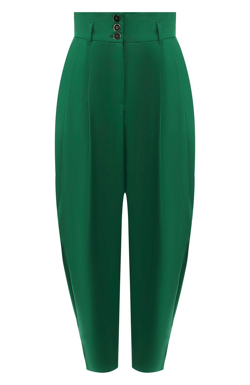 Женские хлопковые брюки DOLCE & GABBANA зеленого цвета, арт. FTBJGT/FUFIS | Фото 1