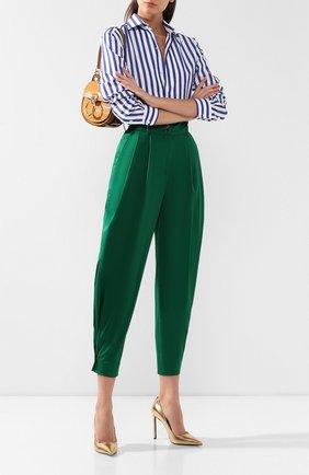 Женские хлопковые брюки DOLCE & GABBANA зеленого цвета, арт. FTBJGT/FUFIS | Фото 2