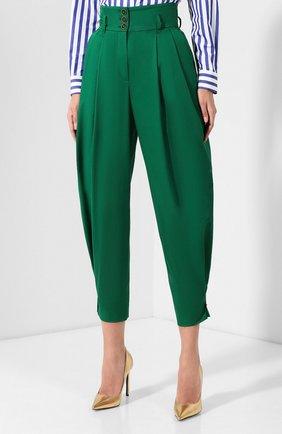 Женские хлопковые брюки DOLCE & GABBANA зеленого цвета, арт. FTBJGT/FUFIS | Фото 3