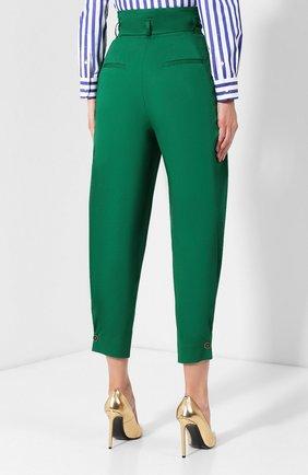 Женские хлопковые брюки DOLCE & GABBANA зеленого цвета, арт. FTBJGT/FUFIS | Фото 4