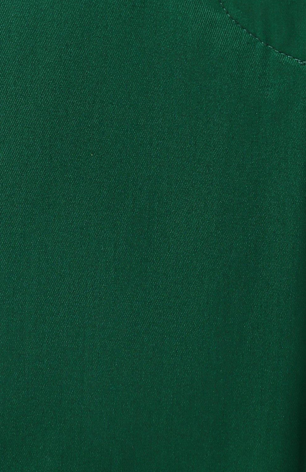 Женские хлопковые брюки DOLCE & GABBANA зеленого цвета, арт. FTBJGT/FUFIS | Фото 5