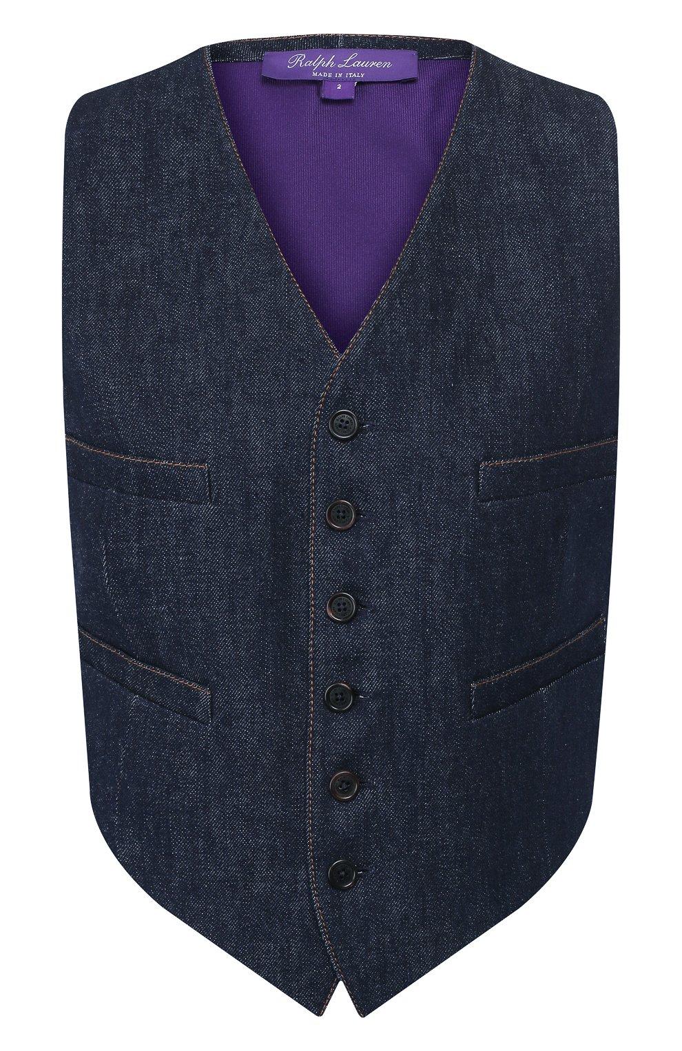 Женский джинсовый жилет RALPH LAUREN синего цвета, арт. 290764968 | Фото 1
