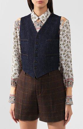 Женский джинсовый жилет RALPH LAUREN синего цвета, арт. 290764968 | Фото 3