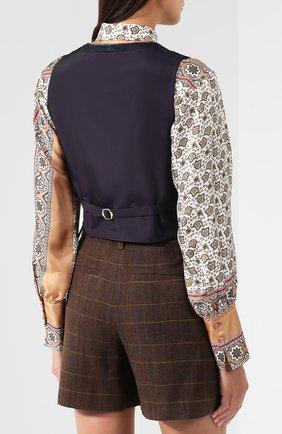 Женский джинсовый жилет RALPH LAUREN синего цвета, арт. 290764968 | Фото 4