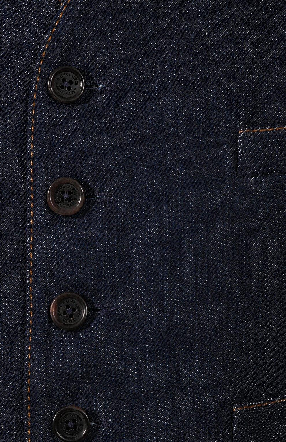 Женский джинсовый жилет RALPH LAUREN синего цвета, арт. 290764968 | Фото 5