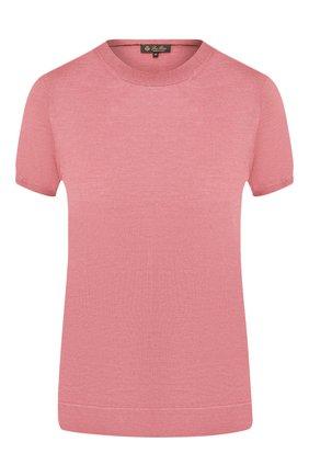 Женский топ из кашемира и шелка LORO PIANA розового цвета, арт. FAI2504   Фото 1