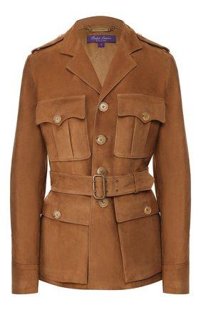 Женская замшевая куртка RALPH LAUREN коричневого цвета, арт. 290762418 | Фото 1