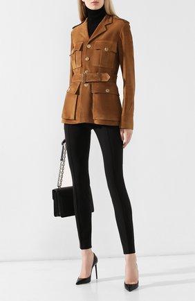 Женская замшевая куртка RALPH LAUREN коричневого цвета, арт. 290762418 | Фото 2