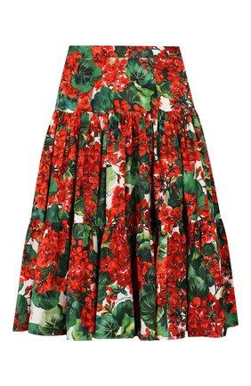 Детская хлопковая юбка DOLCE & GABBANA разноцветного цвета, арт. L53I08/HS5CL/2-6 | Фото 1