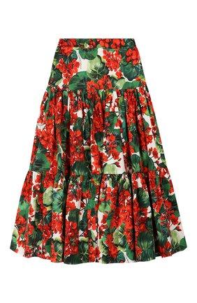 Детская хлопковая юбка DOLCE & GABBANA разноцветного цвета, арт. L53I08/HS5CL/2-6 | Фото 2