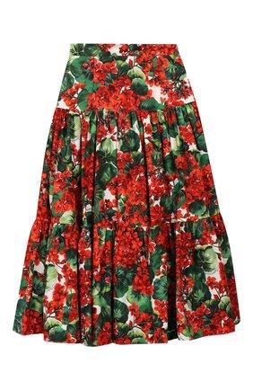 Детская хлопковая юбка DOLCE & GABBANA разноцветного цвета, арт. L53I08/HS5CL/8-14 | Фото 1