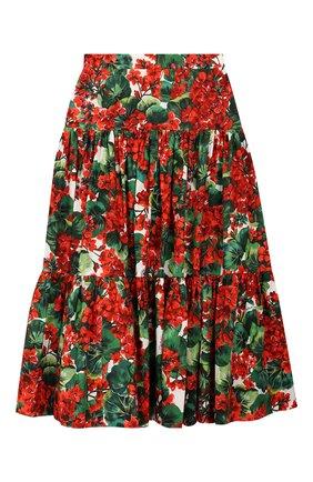 Детская хлопковая юбка DOLCE & GABBANA разноцветного цвета, арт. L53I08/HS5CL/8-14 | Фото 2