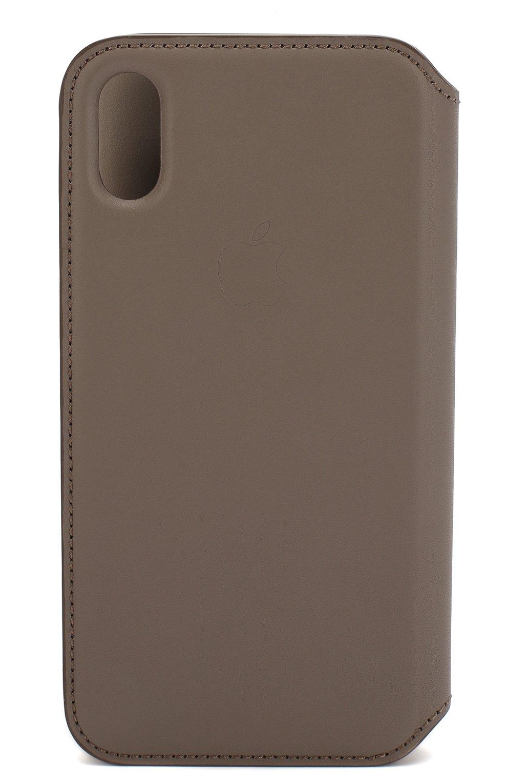 Мужской чехол для iphone x/xs APPLE  серого цвета, арт. MQRY2ZM/A   Фото 2