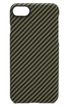 Мужской чехол для iphone 7/8 PITAKA зеленого цвета, арт. KI8006 | Фото 1