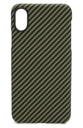 Мужской чехол для iphone xs max PITAKA зеленого цвета, арт. KI8006X | Фото 1