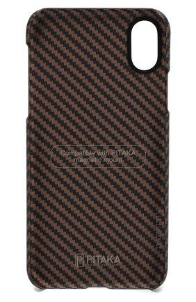 Мужской чехол для iphone x/xs PITAKA коричневого цвета, арт. KI8005X | Фото 2