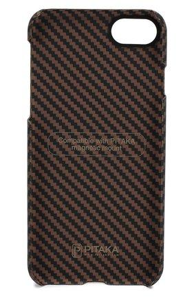 Мужской чехол для iphone 7/8 PITAKA коричневого цвета, арт. KI8005 | Фото 2