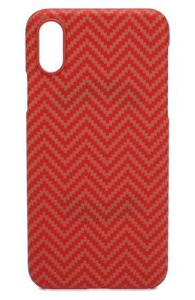 Мужской чехол для iphone x/xs PITAKA красного цвета, арт. KI8007XS | Фото 1