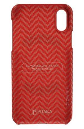 Мужской чехол для iphone x/xs PITAKA красного цвета, арт. KI8007XS | Фото 2