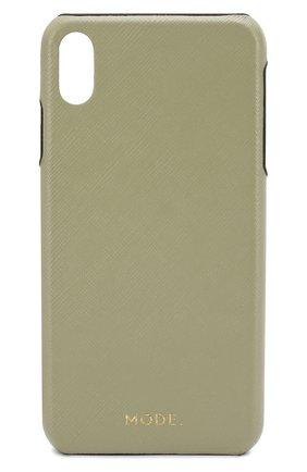 Мужской чехол для iphone xs max DBRAMANTE1928 зеленого цвета, арт. LOXPOLGR5180 | Фото 1