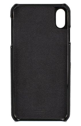Мужской чехол для iphone xs max DBRAMANTE1928 черного цвета, арт. LOXPNIBL5179   Фото 2