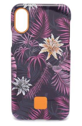 Мужской чехол для iphone x/xs HAPPY PLUGS фиолетового цвета, арт. 9346 | Фото 1