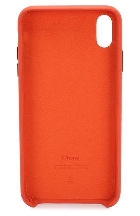 Мужской чехол для iphone xs max APPLE  оранжевого цвета, арт. MVFY2ZM/A   Фото 2
