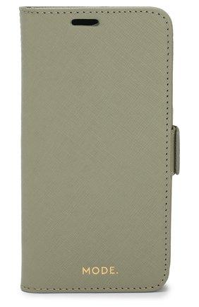 Мужской чехол для iphone xs max DBRAMANTE1928 зеленого цвета, арт. MIXPOLGR5157 | Фото 1