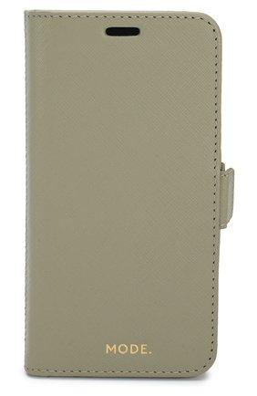 Мужской чехол для iphone xs max DBRAMANTE1928 зеленого цвета, арт. NYXPOLGR5170 | Фото 1
