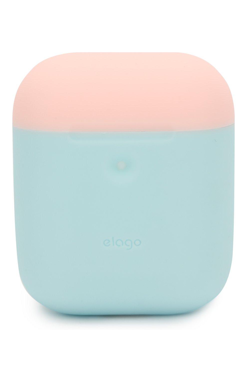 Чехол для airpods wireless ELAGO голубого цвета, арт. EAP2DO-PBL-PKWH | Фото 7 (Статус проверки: Проверена категория)