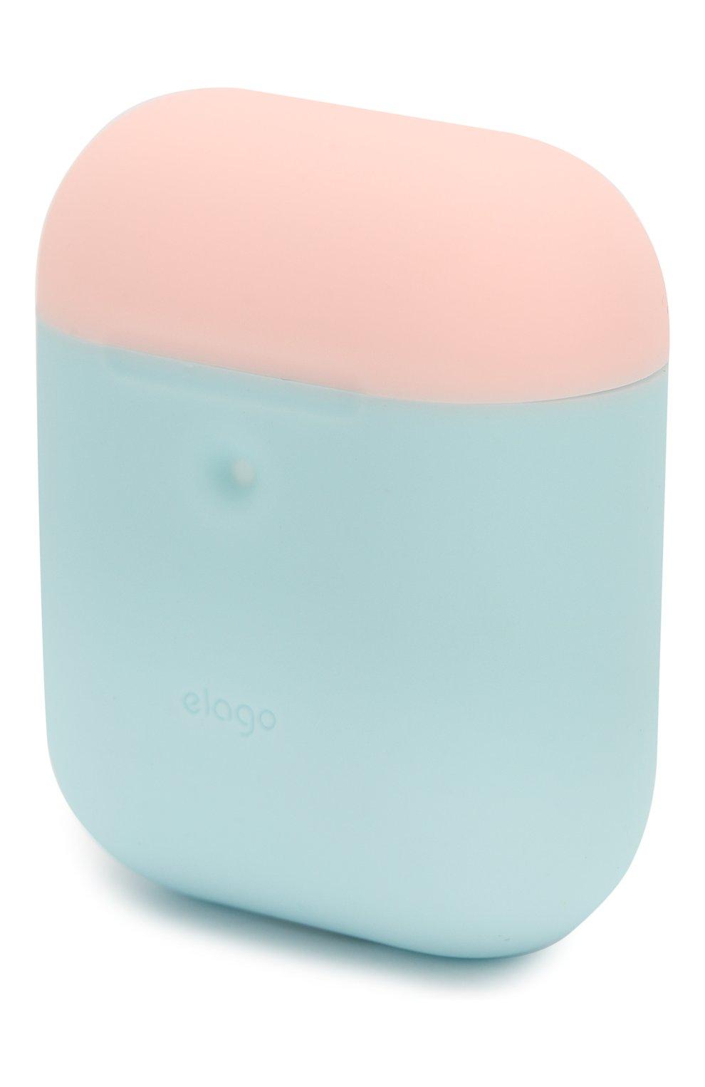 Чехол для airpods wireless ELAGO голубого цвета, арт. EAP2DO-PBL-PKWH | Фото 8 (Статус проверки: Проверена категория)