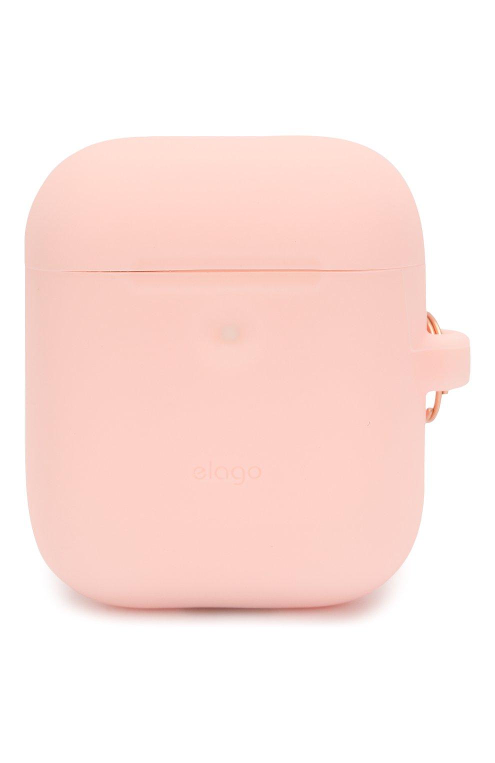 Чехол для airpods wireless ELAGO розового цвета, арт. EAP2SC-HANG-PK | Фото 1 (Статус проверки: Проверена категория)