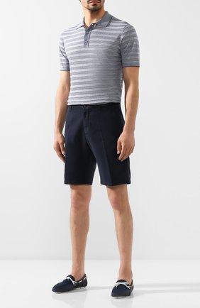 Мужские текстильные мокасины SWIMS синего цвета, арт. 030   Фото 2