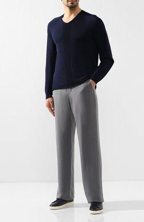 Мужской брюки GIORGIO ARMANI серого цвета, арт. 9SGPP06F/T00AB | Фото 2