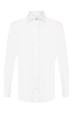 Мужская хлопковая сорочка ZILLI белого цвета, арт. MFS-MERCU-46203/RZ01 | Фото 1